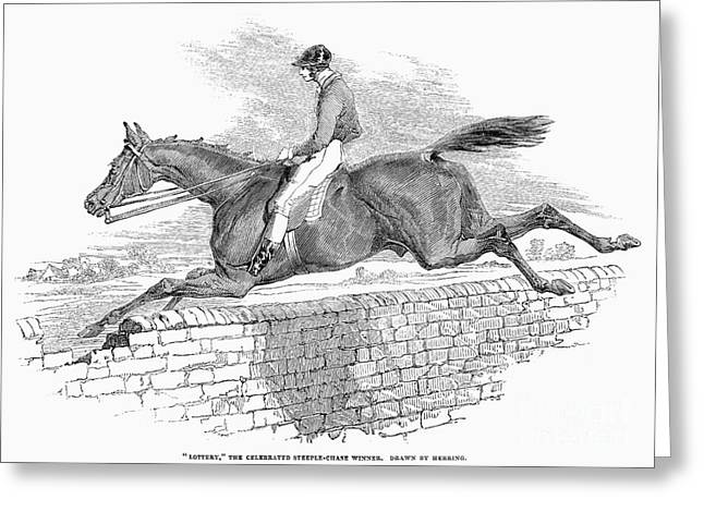 Steeplechase, 1844 Greeting Card by Granger