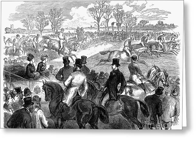 Steeplechase, 1870 Greeting Card by Granger