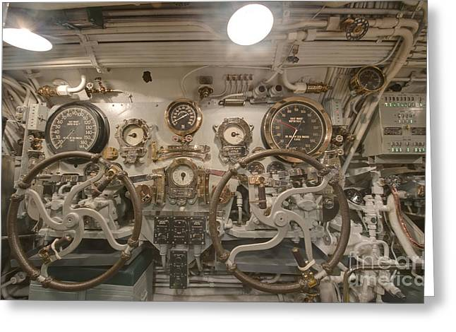 Hawii Greeting Cards - Steering Section on the USS Bowfin Greeting Card by Rob Tilley