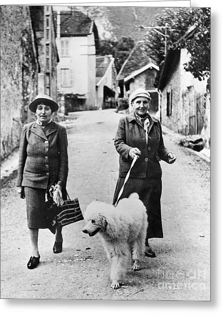 Recently Sold -  - Stein Greeting Cards - Stein And Toklas, 1944 Greeting Card by Granger