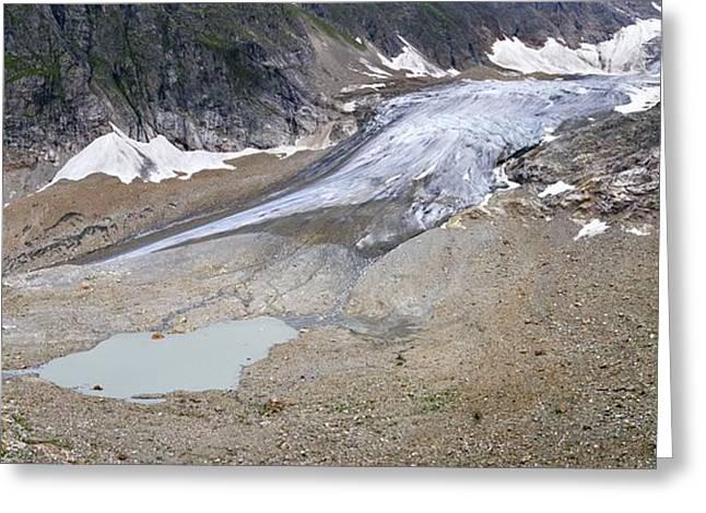 Stein Photographs Greeting Cards - Stein Glacier, Switzerland Greeting Card by Dr Juerg Alean