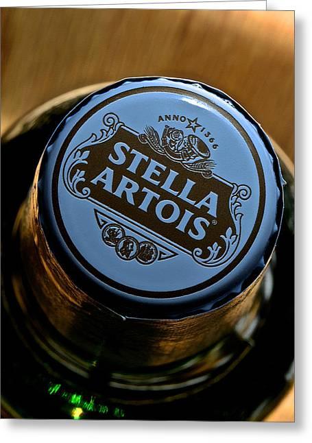 Cerveza Greeting Cards - Stella Artois II Greeting Card by Bill Owen