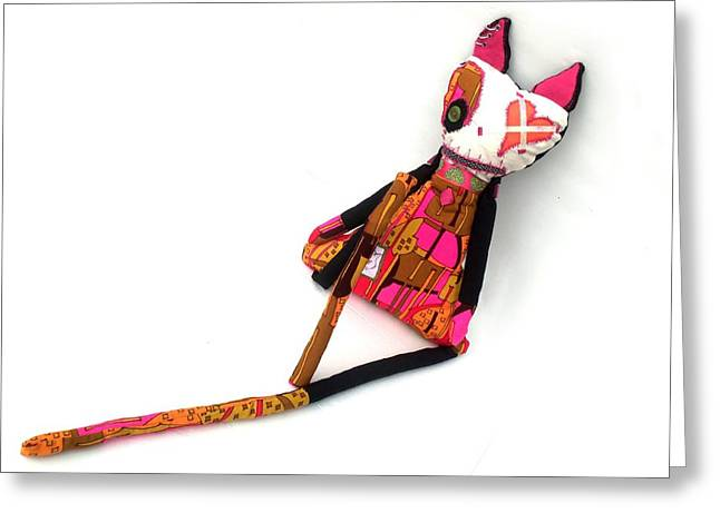 Doll Sculptures Greeting Cards - Stella the 70s Sex Kitten Greeting Card by Oddball Art Co by Lizzy Love