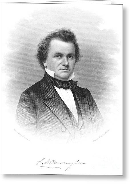 Douglass Greeting Cards - Stephen A. Douglas (1813-1861) Greeting Card by Granger