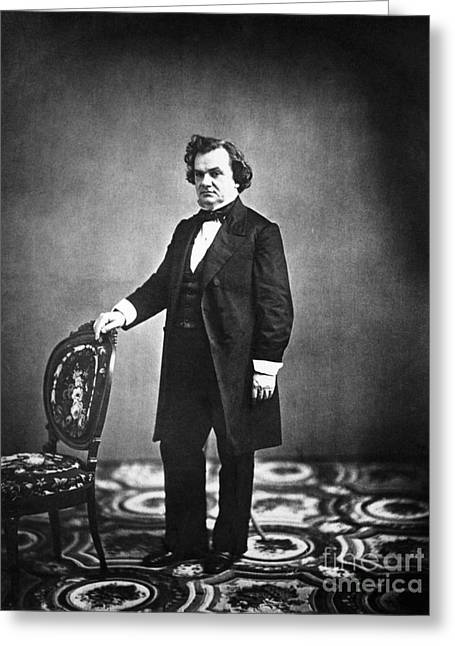 Nominee Greeting Cards - Stephen A. Douglas, American Politician Greeting Card by LOC/Photo Researchers