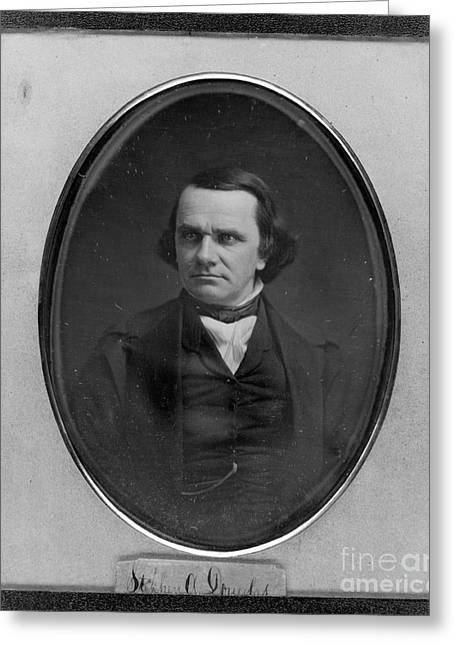 Nominee Greeting Cards - Stephen A. Douglas, American Politician Greeting Card by Photo Researchers