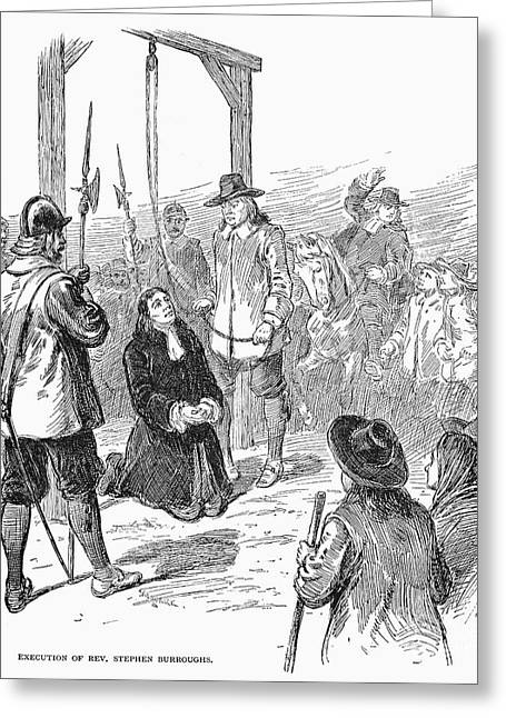 Discrimination Greeting Cards - Stephen Burroughs, 1692 Greeting Card by Granger