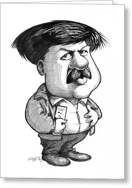 Surname G Greeting Cards - Stephen Gould, Us Palaeontologist Greeting Card by Gary Brown