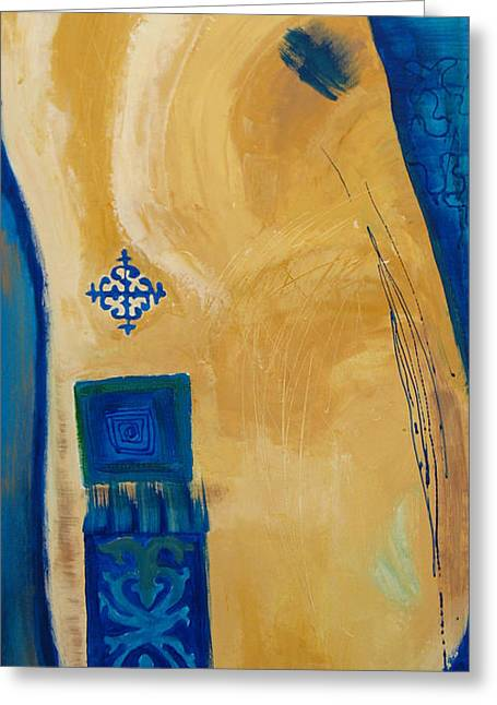 Sand Patterns Mixed Media Greeting Cards - Steppe Metamorphosis 1 Greeting Card by Aliza Souleyeva-Alexander