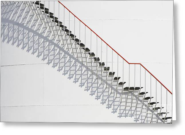 Casting A Shadow Greeting Cards - Steps And Shadows Greeting Card by Iain Sarjeant
