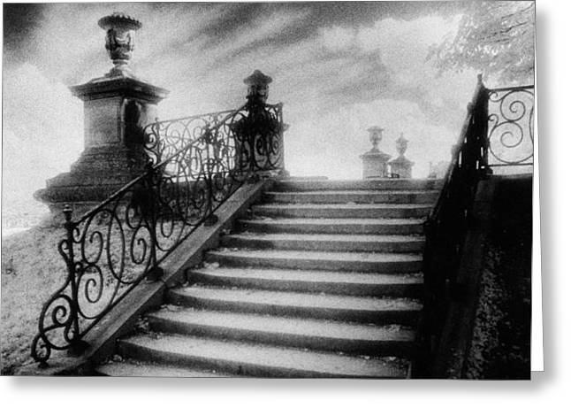 Steps at Chateau Vieux Greeting Card by Simon Marsden