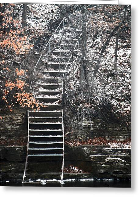 Steps  Greeting Card by Jon Baldwin  Art