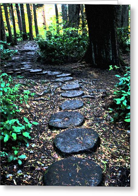 Cape Flattery Greeting Cards - Steps to Cape Flattery Greeting Card by Marie Jamieson
