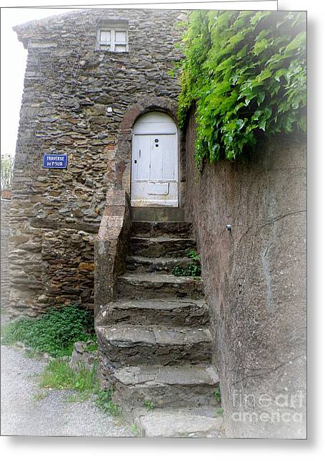 Lainie Wrightson Greeting Cards - Steps to the White Door Greeting Card by Lainie Wrightson