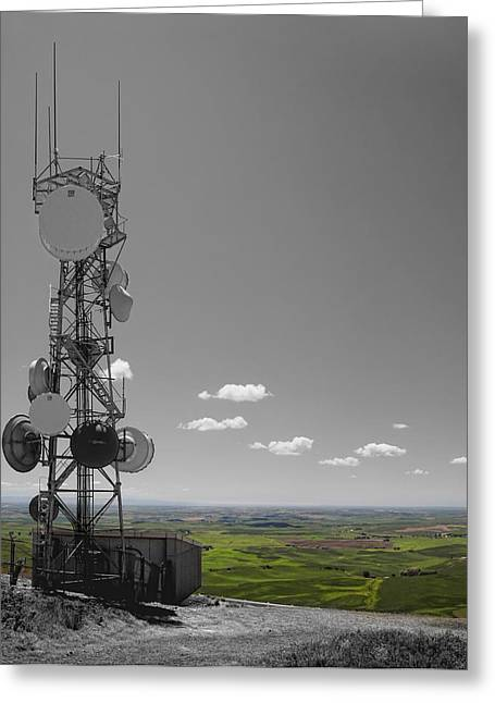 Farm Towns Greeting Cards - STEPTOE BUTTE overlooking THE PALOUSE - Eastern Washington State Greeting Card by Daniel Hagerman
