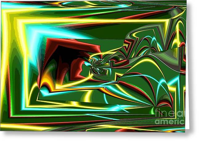 Turn Digital Art Greeting Cards - Stereo Needle Greeting Card by Ron Bissett