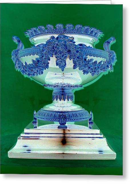 Sterling Urn Greeting Card by Randall Weidner