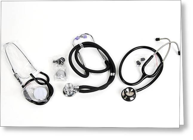 Tool Chest Greeting Cards - Stethoscopes Greeting Card by Photostock-israel