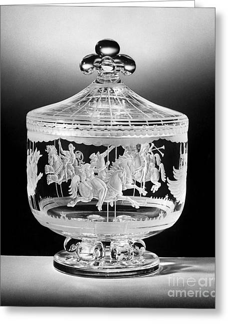 Bess Greeting Cards - Steuben Glass Bowl, 1947 Greeting Card by Granger