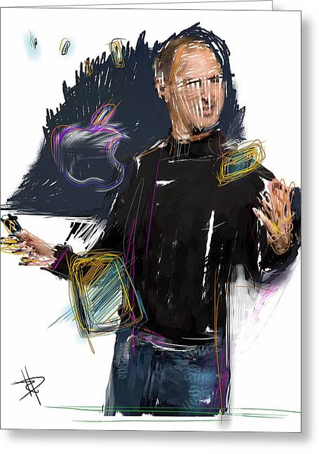 Imac Greeting Cards - Steve Jobs Greeting Card by Russell Pierce