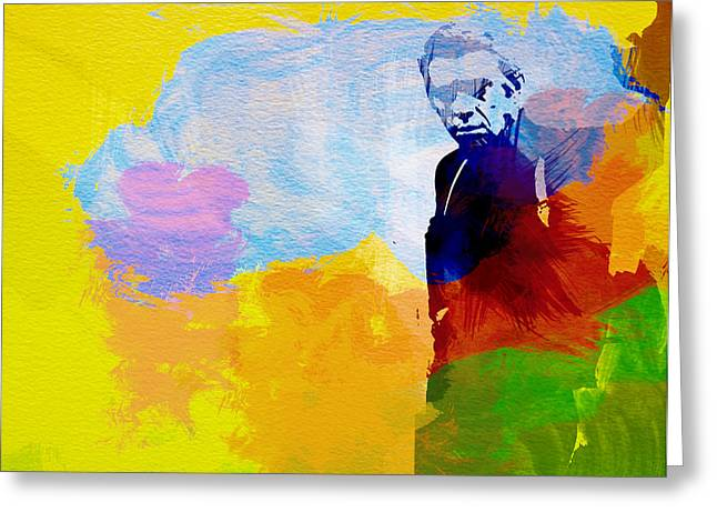 Movie Art Greeting Cards - Steve McQueen Greeting Card by Naxart Studio
