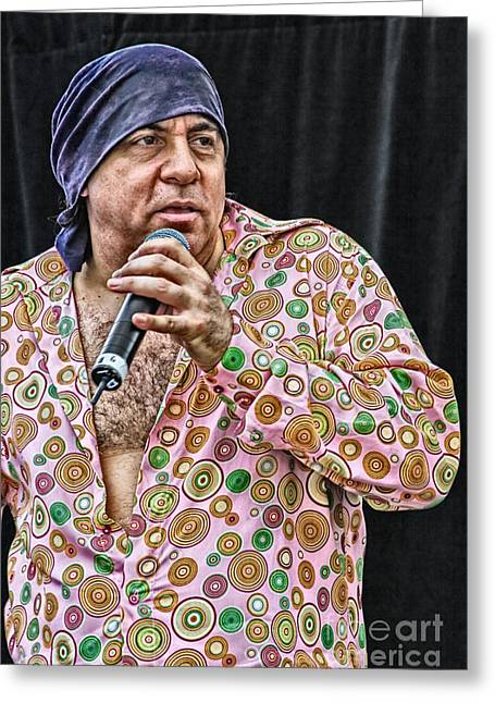 Live Music Greeting Cards - Steven Van Zandt Greeting Card by Ricky Schneider