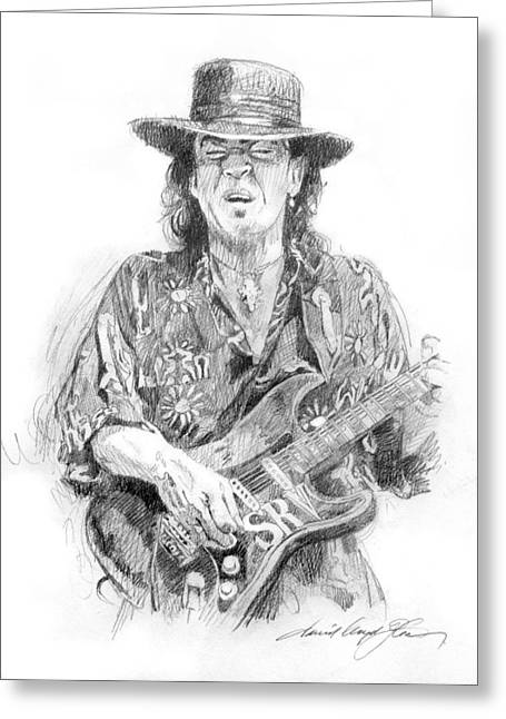 Stevie's Blues Greeting Card by David Lloyd Glover