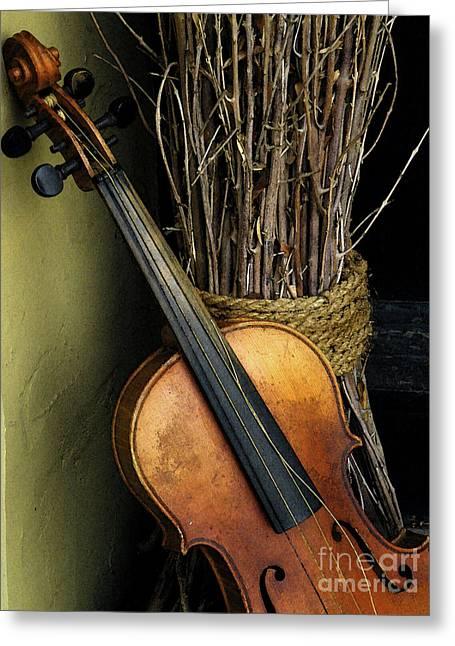 Gallery Wrapped Greeting Cards - Sticks And Strings Greeting Card by Joe Jake Pratt