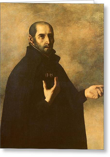 Add Greeting Cards - St.Ignatius Loyola Greeting Card by Francisco de Zurbaran