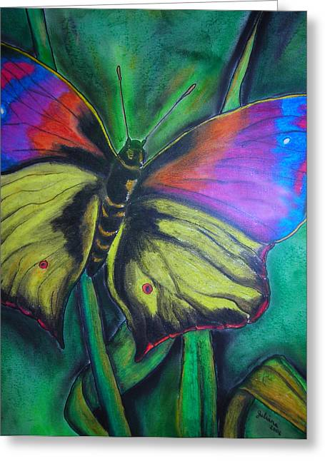 Still Butterfly Greeting Card by Juliana Dube