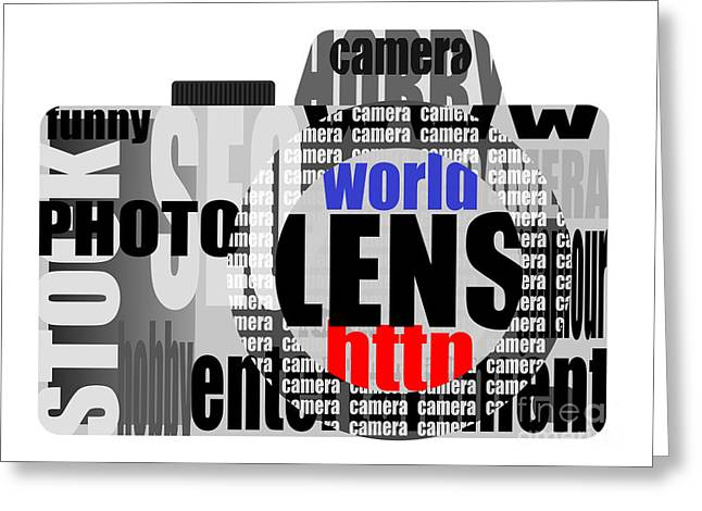Fad Greeting Cards - Still Camera From Words Greeting Card by Michal Boubin