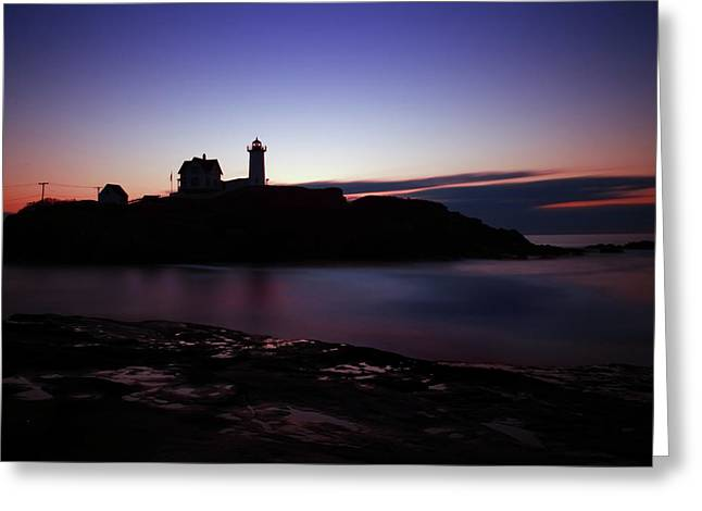 Still Dawn Cape Neddick Greeting Card by Rick Berk