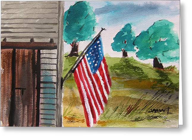 Flag Day Drawings Greeting Cards - Still Day Greeting Card by John  Williams