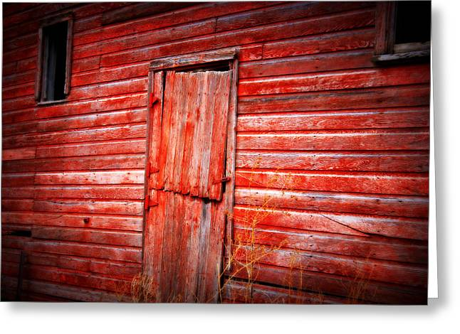 Barn Boards Greeting Cards - Still got color Greeting Card by Julie Hamilton