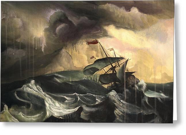 Ship Storm Greeting Cards - Still Hope Greeting Card by Matt Truiano
