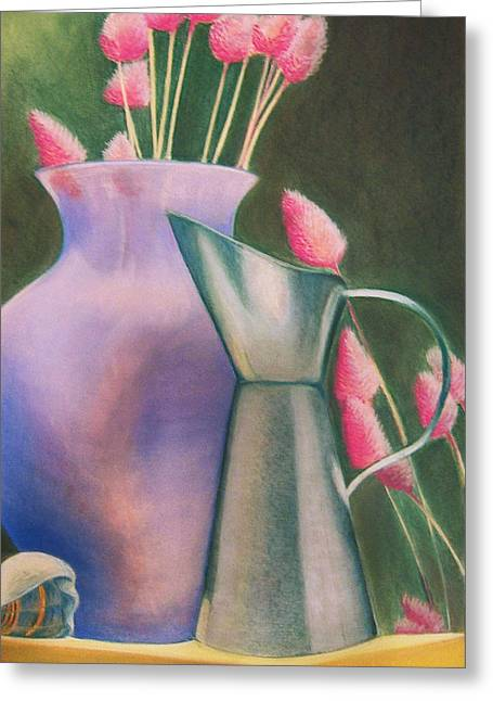 Soft Light Pastels Greeting Cards - Still Life 2 Greeting Card by Miranda Mehrer