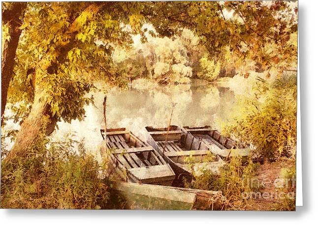 Still Life At The Lake Greeting Card by Odon Czintos
