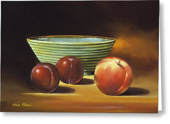 Apple Art Greeting Cards - Still Life II Greeting Card by Han Choi - Printscapes