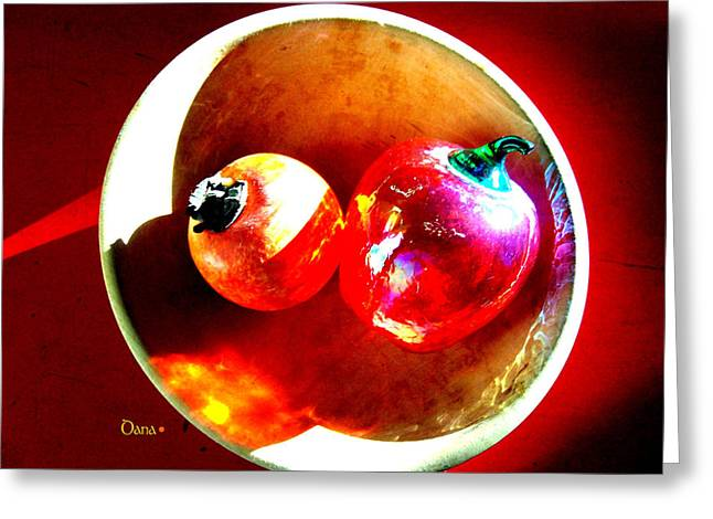 Interior Still Life Digital Greeting Cards - Still Life In Glass Greeting Card by Dana Outlaw