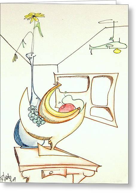 Denny Casto Greeting Cards - Still life in room Greeting Card by Denny Casto