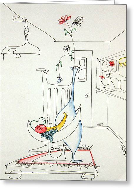 Denny Casto Greeting Cards - Still life in the room with chair Greeting Card by Denny Casto