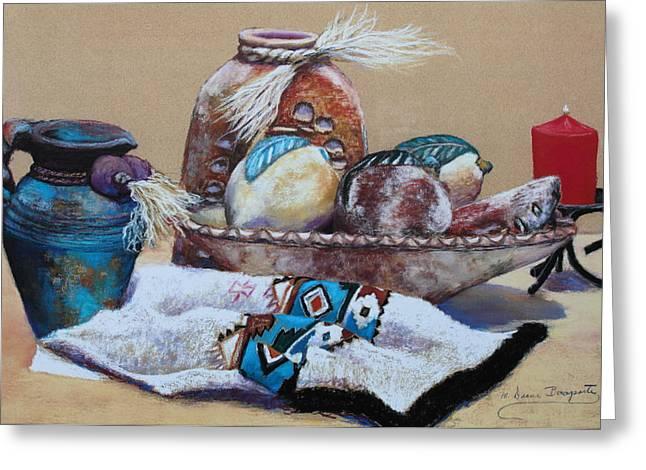 Still Life Greeting Card by M Diane Bonaparte