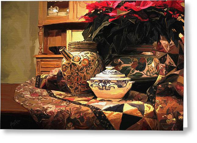 Porcelein Greeting Cards - Still life Greeting Card by Nop Briex