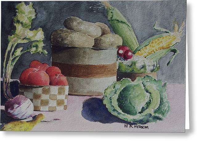 Still Life Number Four Greeting Card by W R  Hersom
