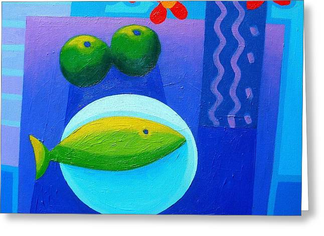 Still Life On Table Greeting Card by John  Nolan