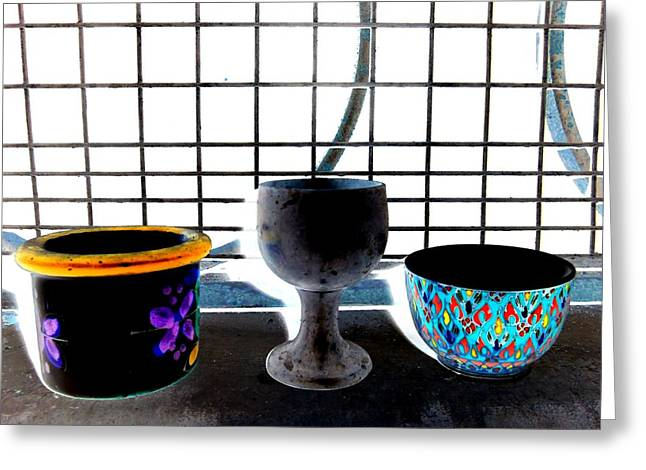 Goblet Greeting Cards - Still Life Greeting Card by Randall Weidner