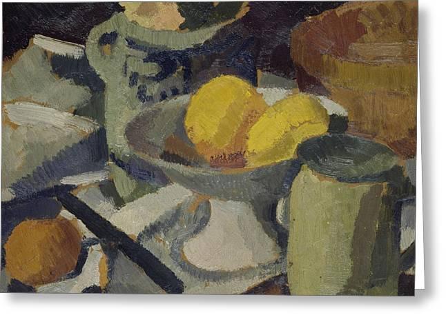 Lemon Art Greeting Cards - Still Life Greeting Card by Roger de La Fresnaye