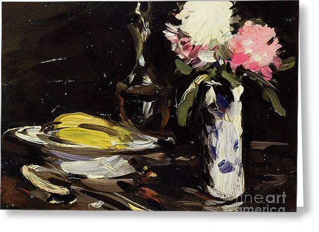 Colorist Greeting Cards - Still Life Greeting Card by Samuel John Peploe