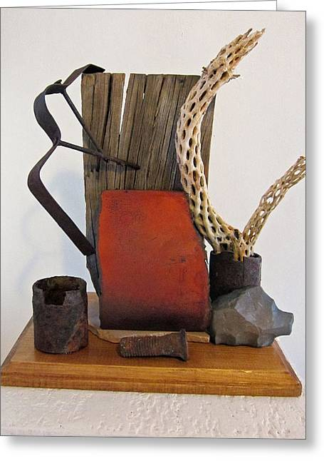 Wood Sculptures Greeting Cards - Still Life Greeting Card by Snake Jagger