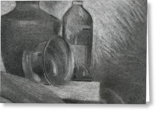 Graphite Greeting Cards - Still Life Study Greeting Card by David Kleinsasser
